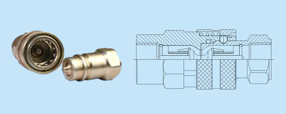 Hydraulic coupling quick release-ISO A 7241