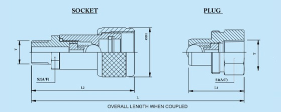 Quick Coupling Technical Specification | Plug Female Socket Coupler